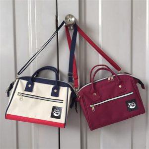 กระเป๋า Anello สีแดง Anello Style กระเป๋าสะพายข้าง Made to Order สามารถสั่งทำได้ทุกสีและเนื้อผ้า