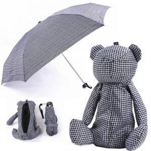 ร่มพับรูปหมี พรีเมี่ยม สกรีนโลโก้ Bear Cute Animal Umbrella