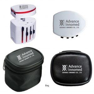 หัวแปลงปลั๊ก สกรีนโลโก้ Universal Travel Adapter Plug