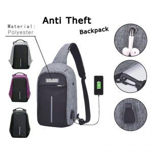 กระเป๋าเป้กันขโมย Anti Theft Backpack พรีเมี่ยม สกรีนโลโก้