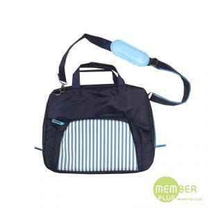 กระเป๋าสะพายข้างมีหูหิ้ว กระเป๋าพรีเมี่ยม สกรีนโลโก้