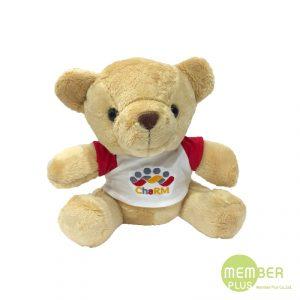 ตุ๊กตาหมีนั่ง พรีเมี่ยม ปักโลโก้