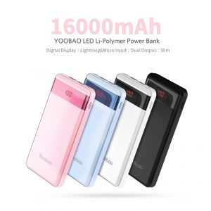 Power Bank 16000mAh P16 Pro แบตเตอรี่สำรอง Yoobao Slim & Portable