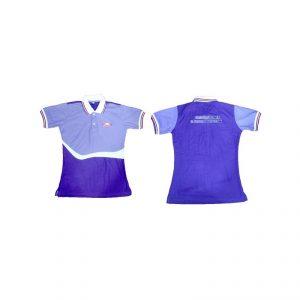 เสื้อโปโล Polo สีม่วง สั่งตัดเสื้อบริษัท ชุดฟอร์ม ปักโลโก้