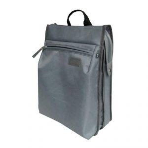 กระเป๋า Laptop สีเทา Gray พรีเมี่ยม สกรีนโลโก้