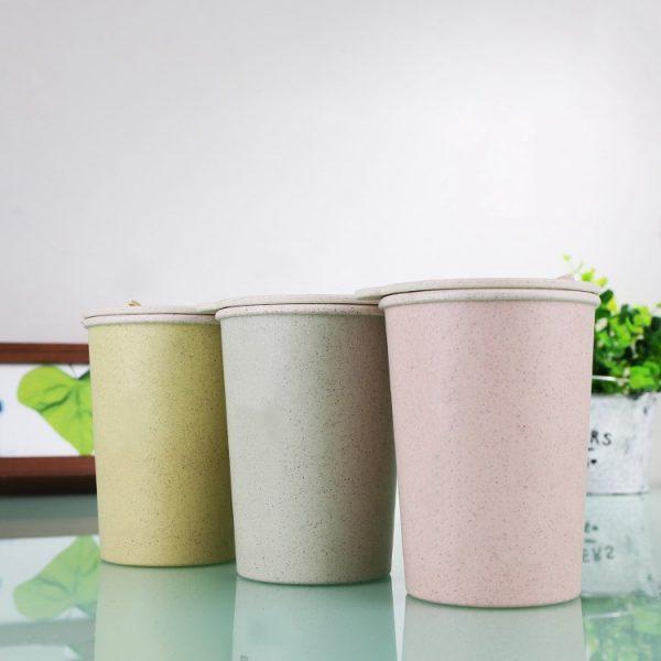 แก้วน้ำรักษ์โลก จากฟางข้าวสาลี Double-Wall Wheat Mug
