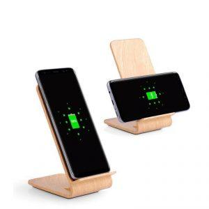 แท่นไม้วางมือถือ Wooden Mobile Stand พรีเมี่ยม สกรีนโลโก้