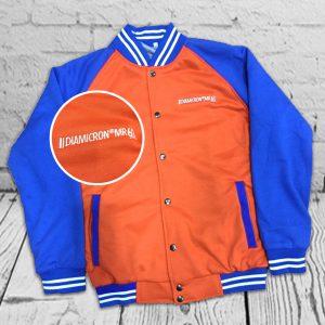 เสื้อแจ็คเก็ต Jacket เสื้อวอร์ม ปักโลโก้ สีส้ม น้ำเงิน