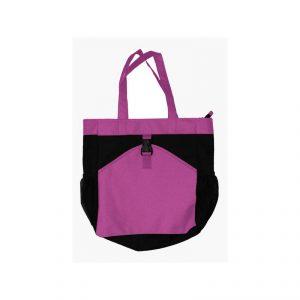 กระเป๋าผ้า ใส่ของ สีม่วงดำ พรีเมี่ยม สกรีนโลโก้