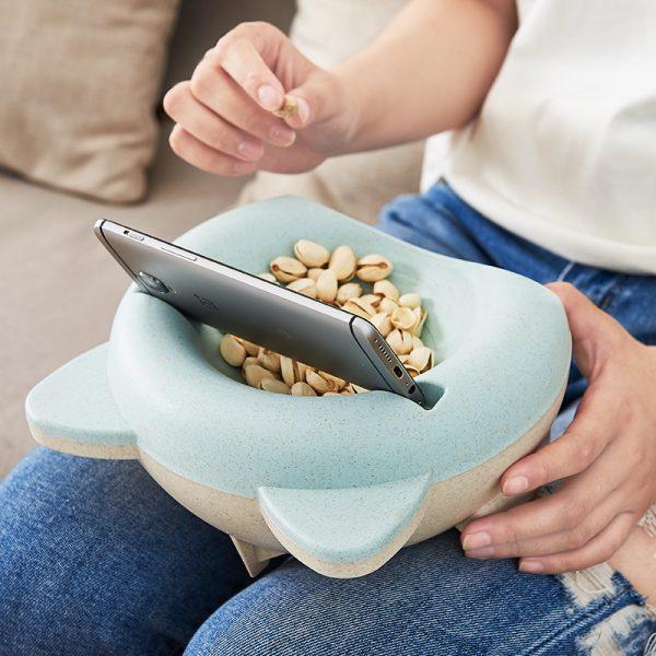 กล่องใส่ขนมวางมือถือได้ ฟางข้าวสาลี Snacks Box