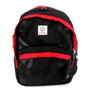กระเป๋าเป้สะพาย สีดำแดง พรีเมี่ยม สกรีนโลโก้