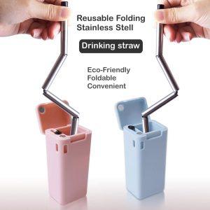 หลอดสแตนเลสพับได้ Eco Product Stainless Straw