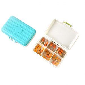 กล่องยา 6 ช่อง ตลับยา Pill Box