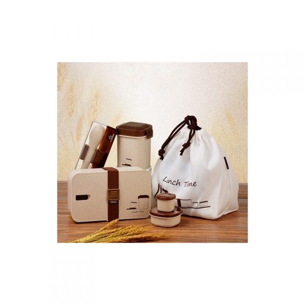 ชุดกล่องอาหารรักษ์โลก ECO Wheat Straw Lunch Box