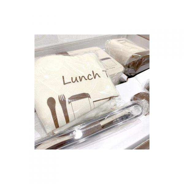 ชุดกล่องอาหารรักษ์โลก ECO Wheat Straw Lunch Box พรีเมี่ยม สกรีนโลโก้