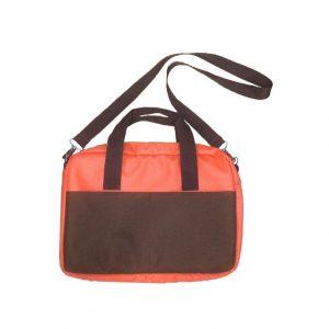 กระเป๋าเอกสาร สีน้ำตาล ส้ม