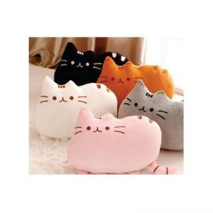 หมอนแมว ปักโลโก้ CAT Shape Pillow