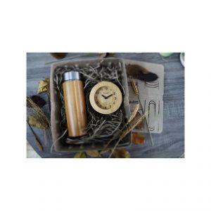 ECO Gift Set กระบอกน้ำสแตนเลส นาฬิกาไม้