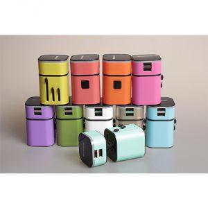 หัวแปลงปลั๊กไฟพรีเมี่ยม Universal Travel Adapter Plug