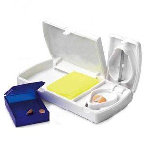 ที่ตัดเม็ดยา กล่องเก็บยา Tablet Cutter พรีเมี่ยม สกรีนโลโก้