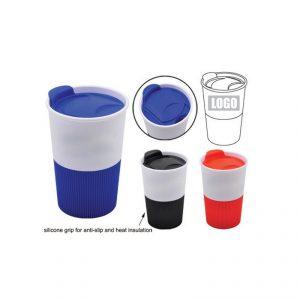 แก้วพลาสติก ที่จับซิลิโคน พรีเมี่ยม Screen Logo