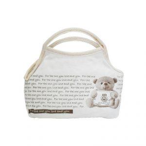 กระเป๋า Retro ลายหมี พรีเมี่ยม สกรีนโลโก้