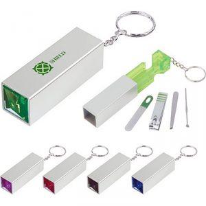 ชุดกรรไกรตัดเล็บ พวงกุญแจ Jewel Manicure Set KeyChain