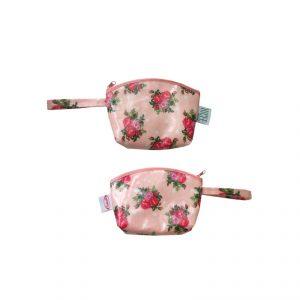กระเป๋าผ้าเคลือบ ลายดอกไม้ พรีเมี่ยม สกรีนโลโก้
