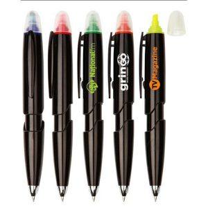 ปากกา + ไฮไลท์เน้นข้อความ 2 in 1 พรีเมี่ยม สกรีนโลโก้