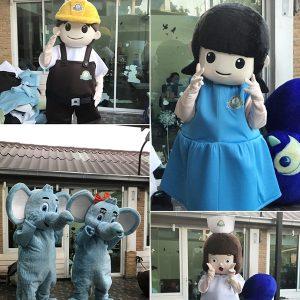 ชุดมาสคอต Mascot รับออกแบบ ผลิต สั่งทำ Mascot by Member Plus®