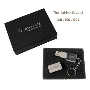 Thumdrive Crystal USB Flash Drive ยิงเลเซอร์