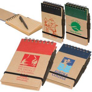 สมุดโน๊ต กระดาษ ECO Pocket Note สมุดบันทึกริมลวด พร้อมปากกา
