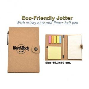 กระดาษโน๊ต Eco-Friendly Jotter With Sticky Note and Ball Pen