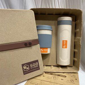 Gift Set แก้ว กระบอกน้ำ พร้อมกล่องไข่ Wheat Bottle & Mug ECO GiftSet