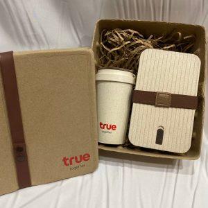 ECO Giftset กล่องข้าว แก้ว พร้อมกล่องไข่ Wheat Lunch Box Bottle & Mug ชุดของขวัญ