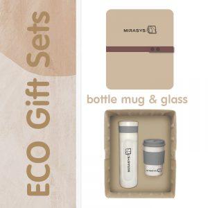 ECO Giftset รักษ์โลก แก้ว กระบอกน้ำ พร้อมกล่องไข่
