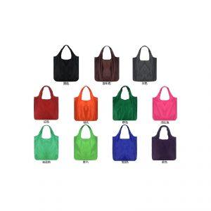 กระเป๋าพับได้ สีพื้น สกรีนโลโก้