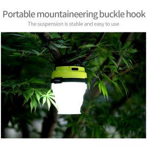 โคมไฟซิลิโคนพับเก็บได้ สำหรับพกพา สามารถชาร์ทด้วยพลังงานแสงอาทิตย์ได้ FaSoLa Mini Lamp