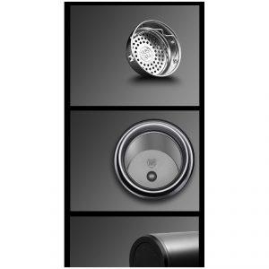 กระบอกน้ำตั้งอุณหภูมิ หน้าจอ LED Stainless Temperature Display Bottle Led Digital Thermos พรีเมี่ยม สกรีนโลโก้