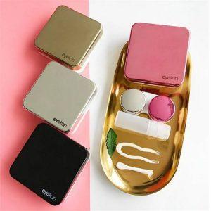 กล่องคอนแทคเลนส์ Contact Lens Case สามารถสั่งสกรีนโลโก้ Logo บนกล่อง