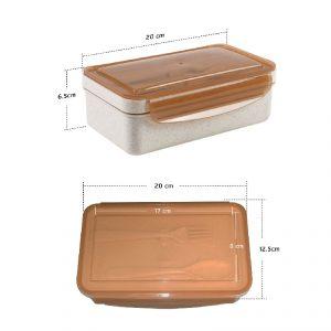 กล่องข้าวพร้อมช้อนส้อม Bento Box