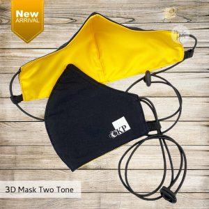 สกรีนหน้ากากผ้า 3D Mask Two Tone