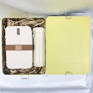 ECO GiftSet ของแจกปีใหม่ แก้ว x กล่องข้าว รักษ์โลกพร้อมกล่องโลหะ
