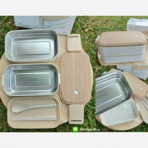 กล่องอาหารสแตนเลส 2 ชั้น