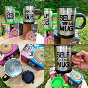 SELF STIRRING MUG แก้วชงกาแฟ
