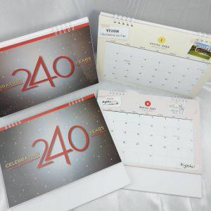 พิมพ์ปฏิทินตั้งโต๊ะ Calendar
