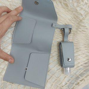 เจลแอลกอฮฮล์ พวงกุญแจหนัง+กระเป๋าใส่ Card สีสวยสดใส